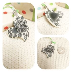 Must bundle!  White Gray Rhinestone Pendant